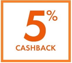 CashBack 5 %